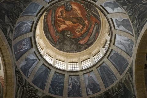 オロスコ天井画 オスピシオ・カパーニャス 世界遺産