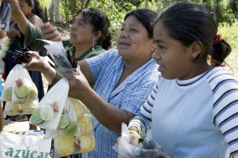 バニラ等を売るトトナカ族