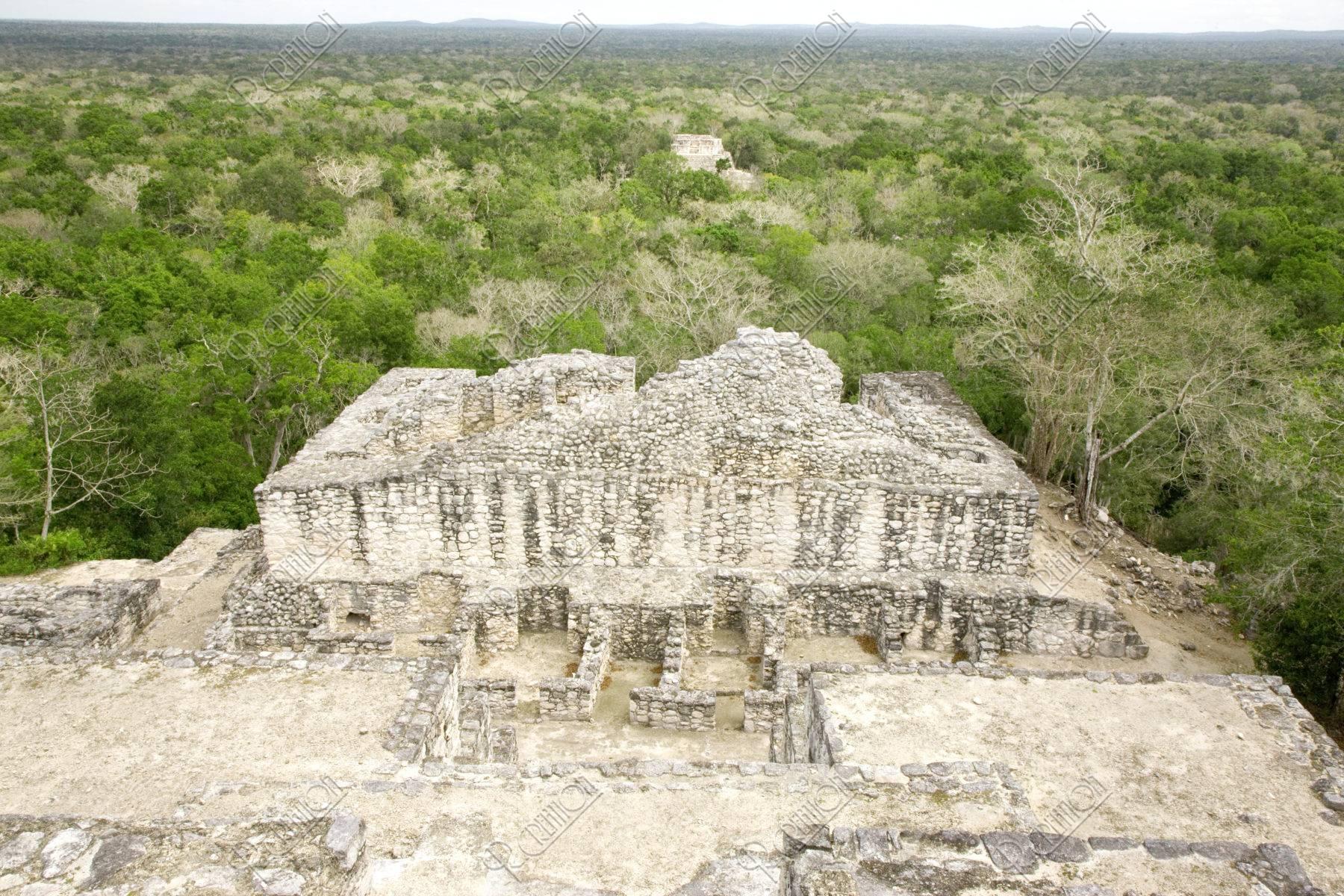 カラクムル遺跡 第2神殿とジャングル 世界遺産