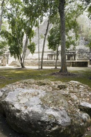 カラクムル遺跡 第1神殿と貢ぎ物台 世界遺産
