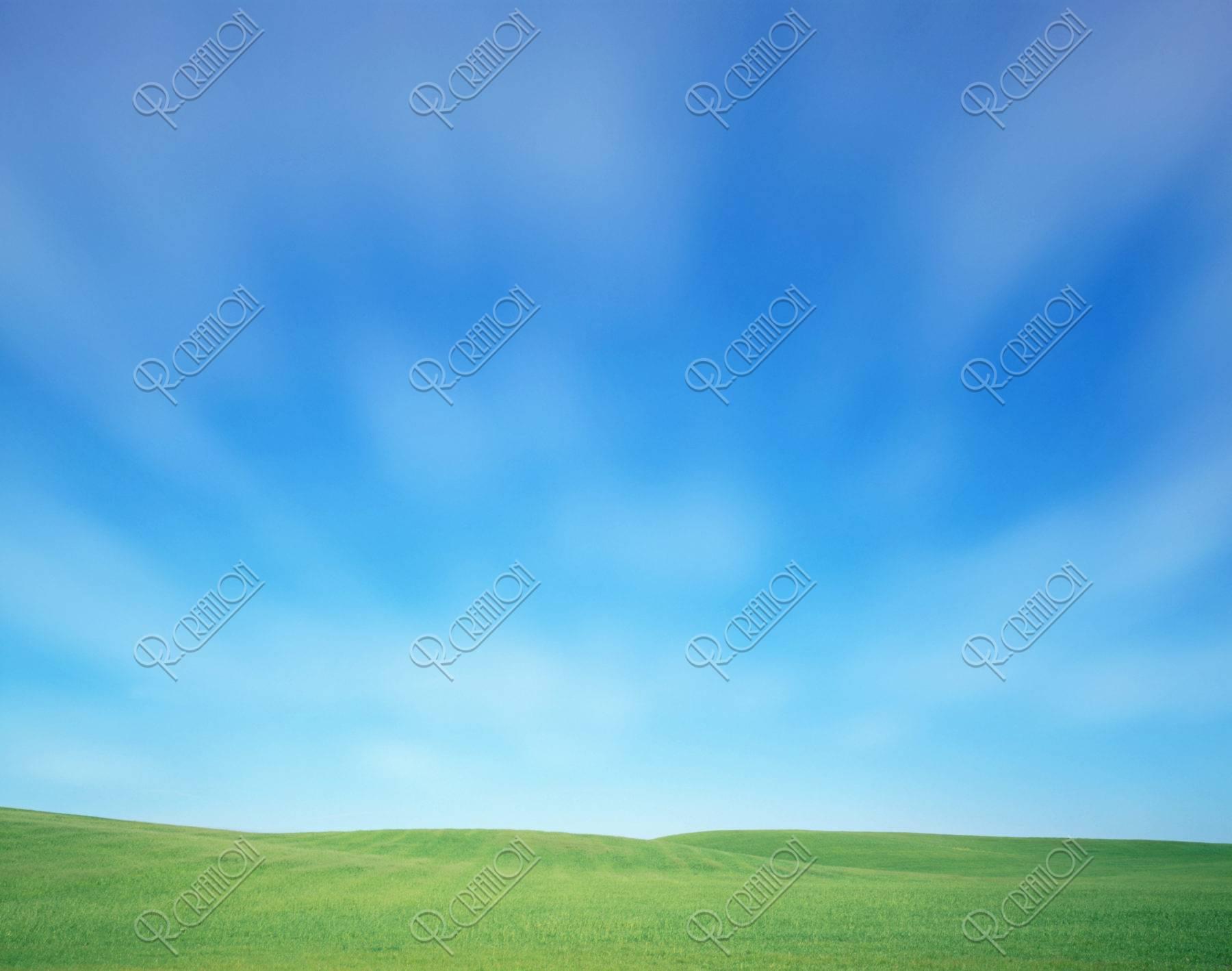 丘と空のイメージ CG