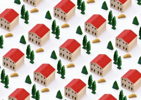 積み木の町並み