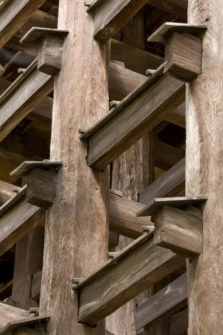清水寺舞台の足組 世界遺産