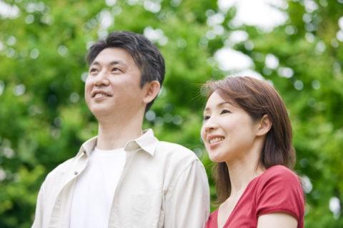 新緑のカップル