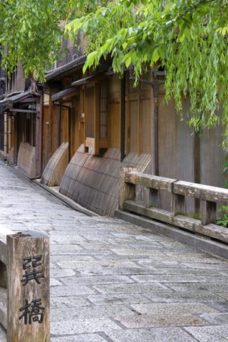 祇園 巽橋と家並み