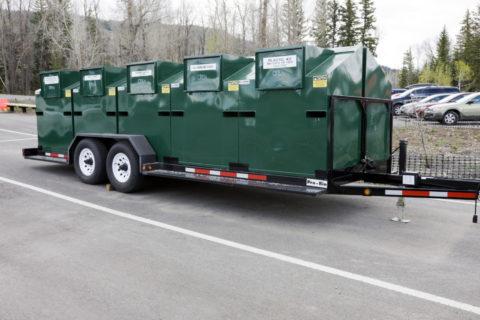 ゴミ分別収集トレーラー