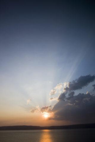 ダーダネルス海峡 海と夕日