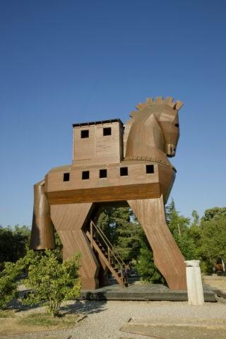 トロイ遺跡 トロイの木馬 世界遺産