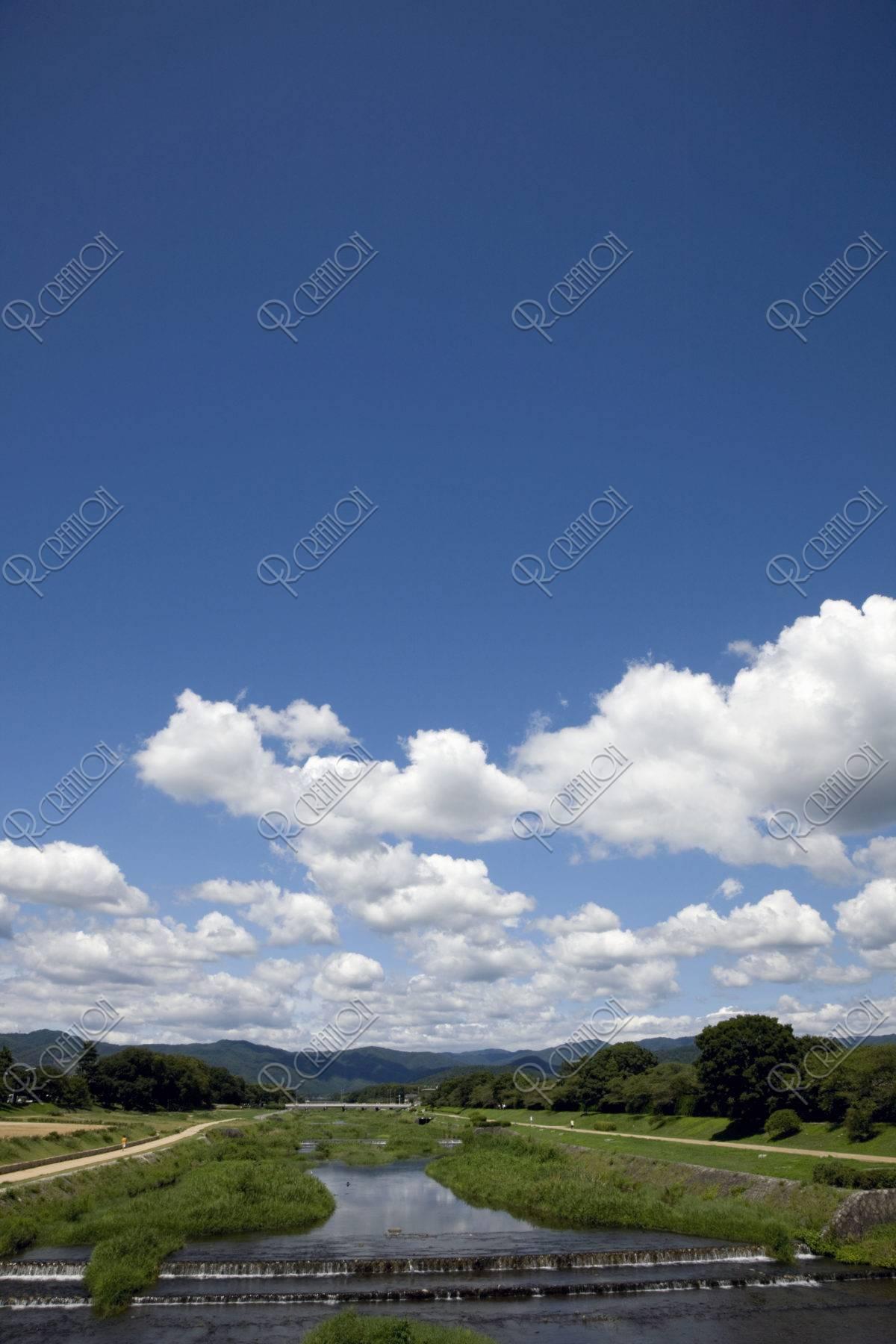 夏空と鴨川