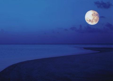 砂浜と満月