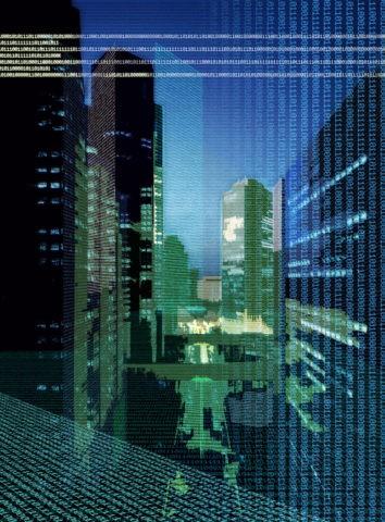 都会の夜景 CG