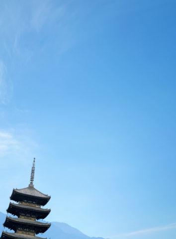 青空と五重塔 CG
