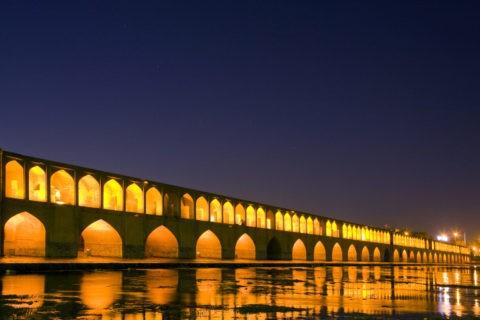 スィオーセ橋の夕景