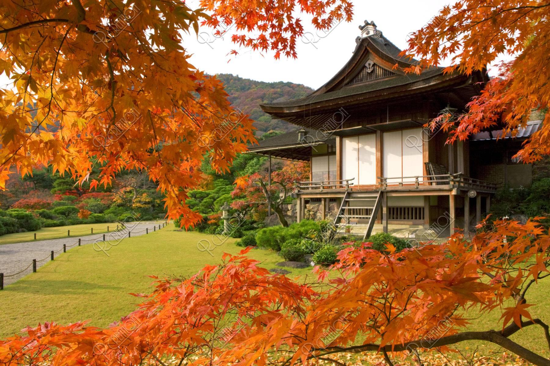 紅葉と大河内山荘