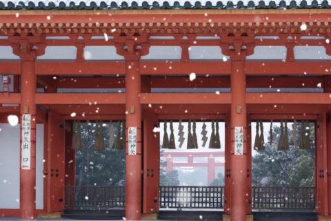 平安神宮雪景色