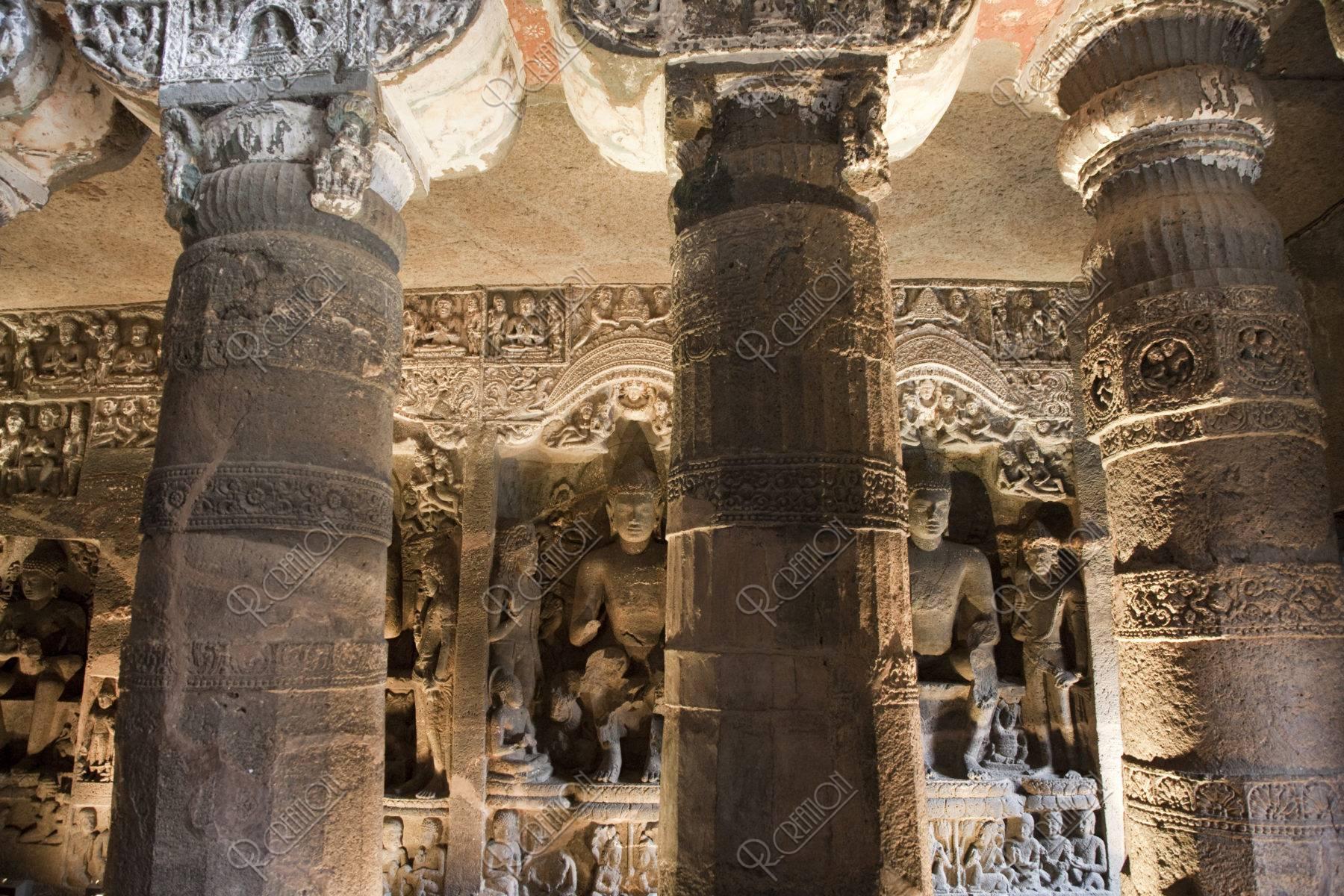 アジャンタ石窟 第26窟 ストゥーパ 世界遺産