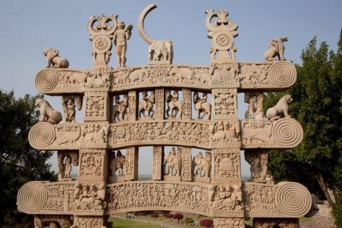 サンチーの第1塔 北塔門 世界遺産