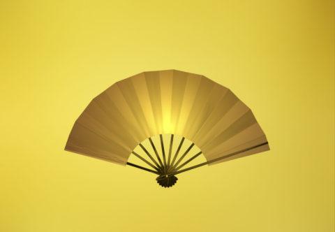 金色の扇子 CG