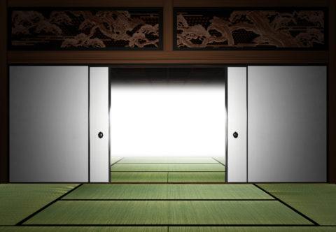 和室とふすまのイメージ CG