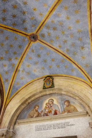 聖サンフランシスコ聖堂 フレスコ画