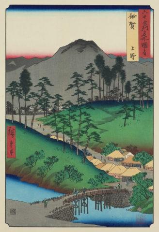 六十余州名所図会 伊賀 上野