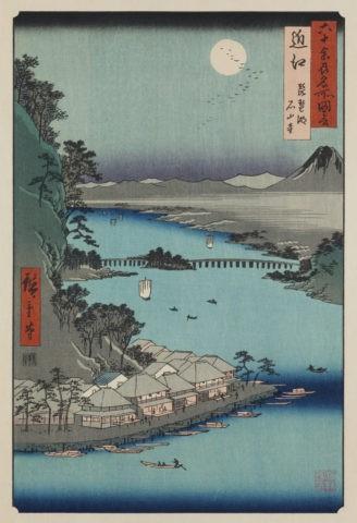 六十余州名所図会 近江 琵琶湖 石山寺