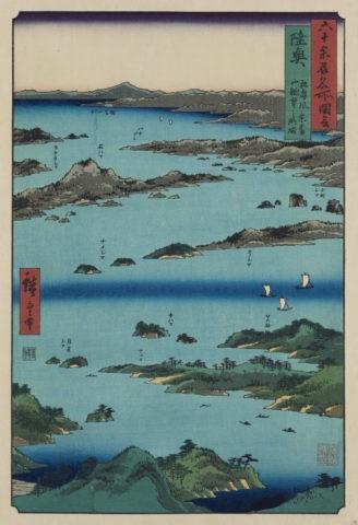 六十余州名所図会 陸奥 松島風景 富山眺望之略図