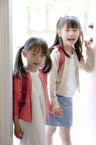 帰宅の小学生