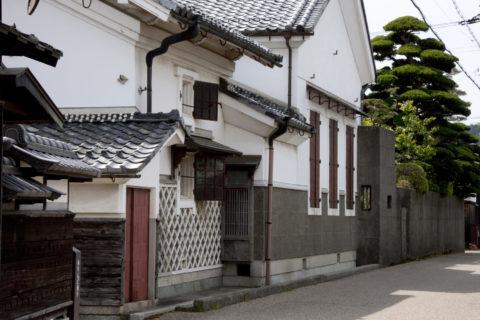 五個荘 近江商人屋敷の家並み
