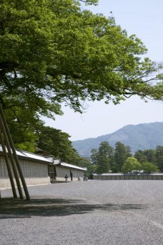 京都御苑と大文字山
