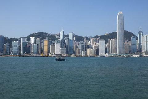 香港島とビル群