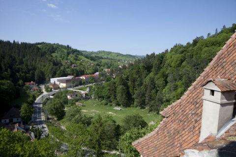 ブラン城からのトランシルヴァニア地方の風景