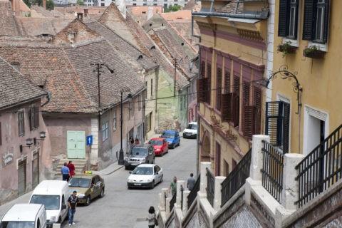 旧市街の町並み