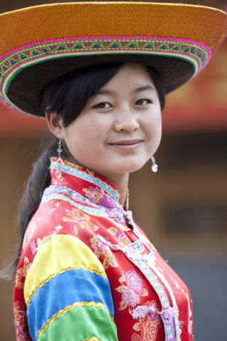 少数民族 土族の女性
