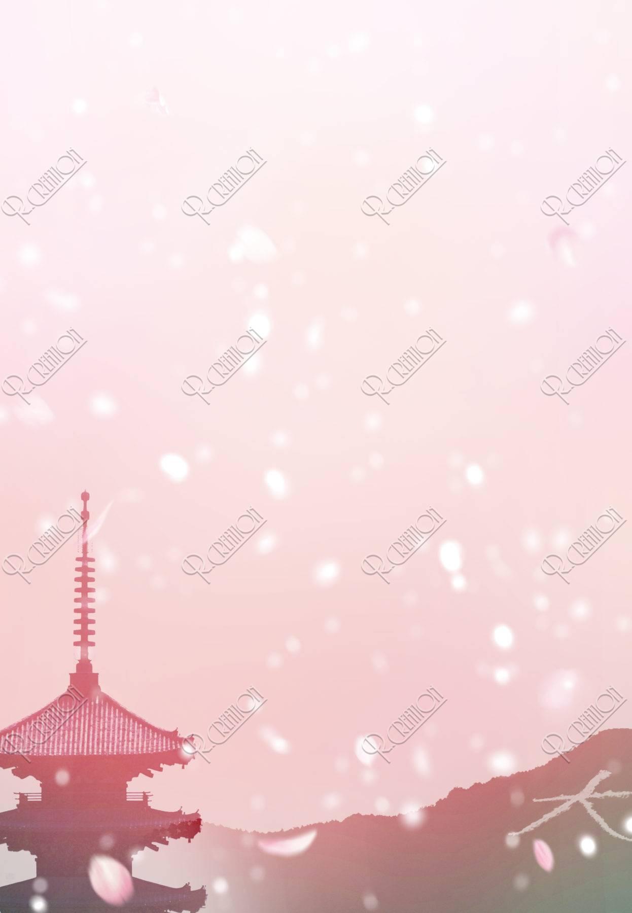 桜舞う京都イメージ