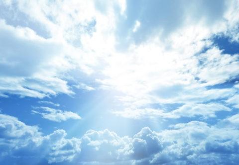 空と雲と太陽
