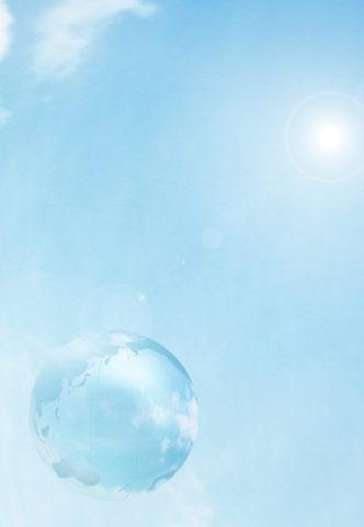 空に浮かぶ地球イメージ