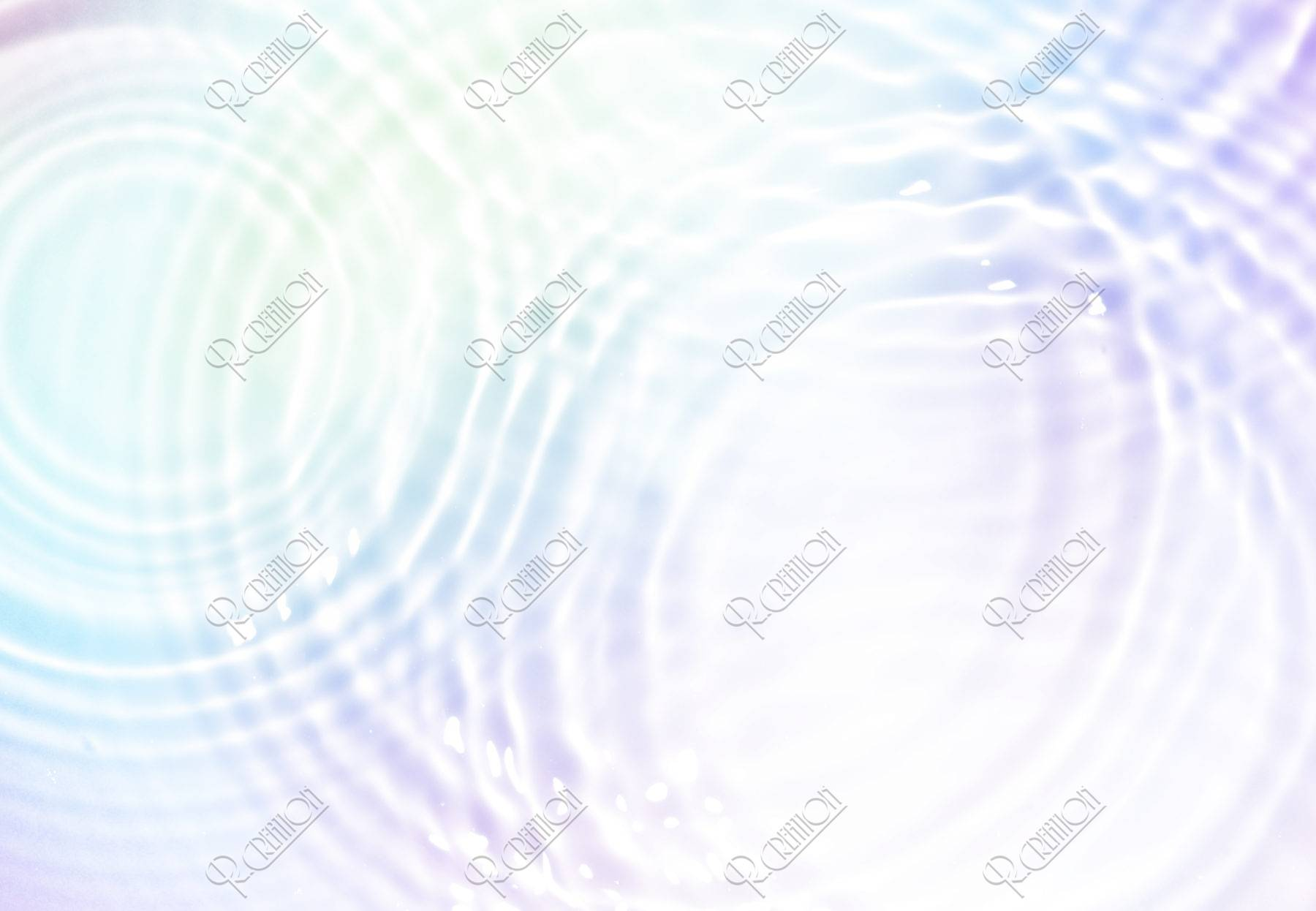 虹色の水面
