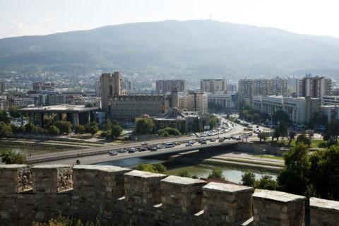 城塞からのスコピエ市内