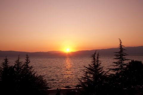 オフリド湖の落日 世界遺産