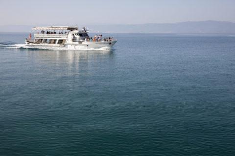オフリド湖の観光船 世界遺産