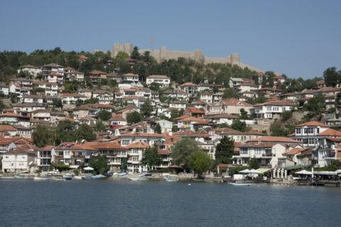 城塞とオフリドの町並み 世界遺産