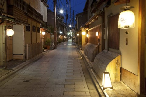 京都市 宮川町 夜景