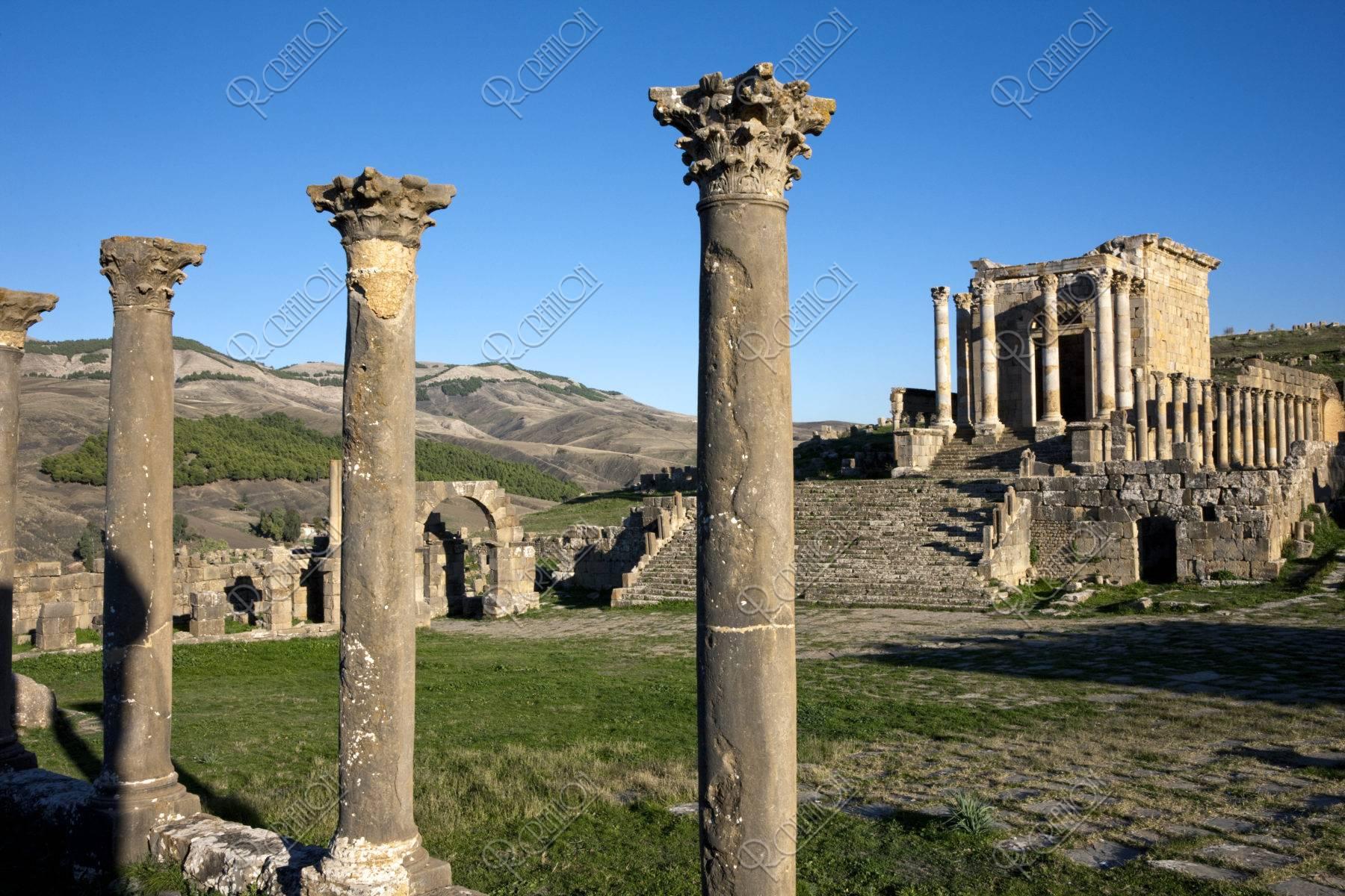 ジェミラ遺跡 セプティミウス帝の神殿 世界遺産
