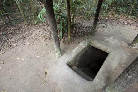 クチトンネル 地下トンネル出入口
