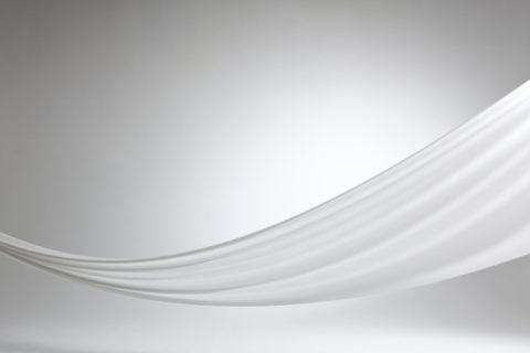 白い布のドレープ