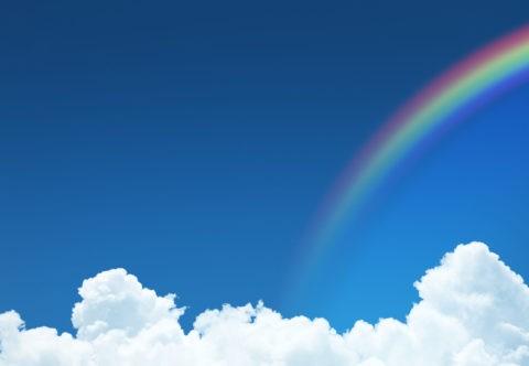 青空と雲と虹