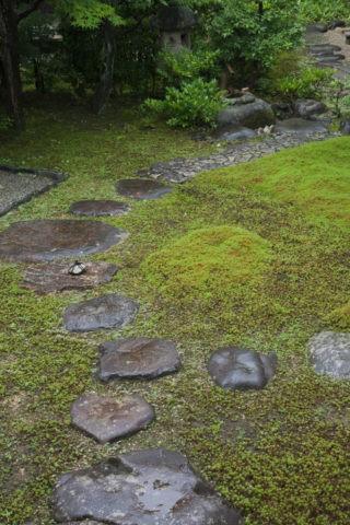 真如堂 庭の飛び石