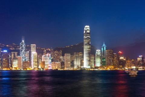 香港島とビクトリア湾