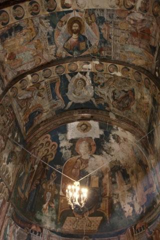 ウビシ修道院 フレスコ画